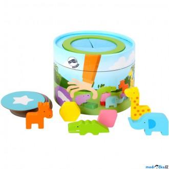 Dřevěné hračky - Didaktická hra - Hmatová, Najdi v kyblíku (Legler)