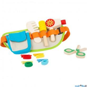 Dřevěné hračky - Kadeřnice - Kadeřnický set dřevěný na opasku (Legler)