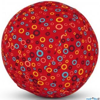 Pro nejmenší - BubaBloon - Látkový nafukovací míč, Červený