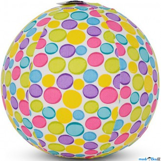 Pro nejmenší - BubaBloon - Látkový nafukovací míč, Barevné pastelové puntíky