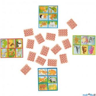 Dřevěné hračky - Didaktická hra - Lotto paměťová hra, Zvířátka (Goki)