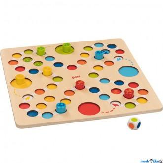 Dřevěné hračky - Člověče, nezlob se - Dřevěné pro nejmenší děti (Goki)