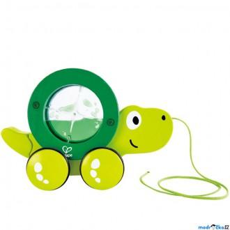 Dřevěné hračky - Tahací hračka - Želvička s přelívacím válcem (Hape)