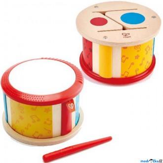 Dřevěné hračky - Hudba - Bubínek, Oboustranný (Hape)