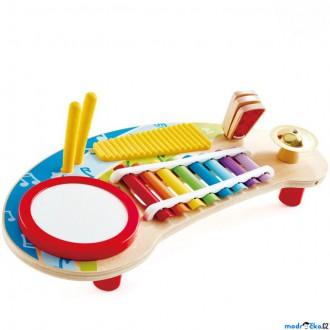 Dřevěné hračky - Hudba - Hudební stoleček, Multifunkční 5v1 (Hape)