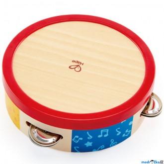 Dřevěné hračky - Hudba - Tamburína, Celodřevěná (Hape)
