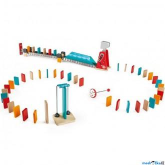 Dřevěné hračky - Dominová dráha - Mocné kladivo, 59 dílků (Hape)