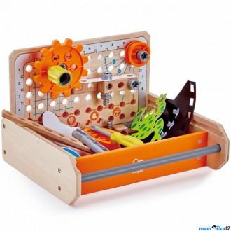 Stavebnice - Stavebnice montážní - Vědcův kufřík, 32 dílků (Hape)