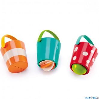 Ostatní hračky - Hračka do vody - Veselé kbelíky, set 3ks (Hape)