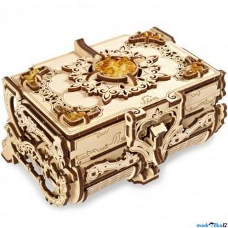 Stavebnice - 3D mechanický model - Šperkovnice jantarová (Ugears)