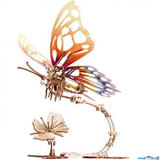 Stavebnice - 3D mechanický model - Motýl Butterfly (Ugears)