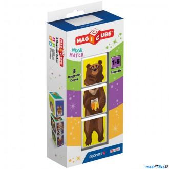 Stavebnice - Geomag - Magicube, Animals 3 kostky