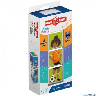 Stavebnice - Geomag - Magicube, Sports 3 kostky