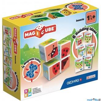 Stavebnice - Geomag - Magicube, Hmyz 4 kostky