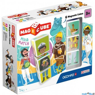 Stavebnice - Geomag - Magicube, Mix&Match 6 kostek