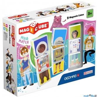 Stavebnice - Geomag - Magicube, Mix&Match 9 kostek