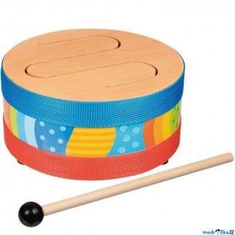 Dřevěné hračky - Hudba - Bubínek celodřevěný (Goki)