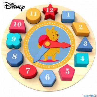 Dřevěné hračky - Puzzle hodiny - Vkládačka dřevěná Medvídek Pú (Disney Derrson)