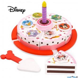 Dřevěné hračky - Dekorace prodejny - Dřevěný krájecí dort Minnie a přátelé (Disney Derrson)
