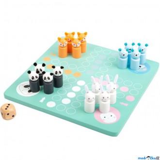 Dřevěné hračky - Člověče, nezlob se - Pastelové barvy, dřevěné figurky (Legler)