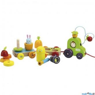 Dřevěné hračky - Auto - Multifunkční tahací traktůrek dřevěný (Vilac)