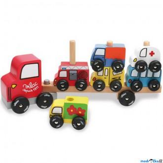 Dřevěné hračky - Auto - Nasazovačka přívěs pro auta (Vilac)