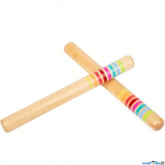Dřevěné hračky - Hudba - Hudební dřívka, duhová (Legler)