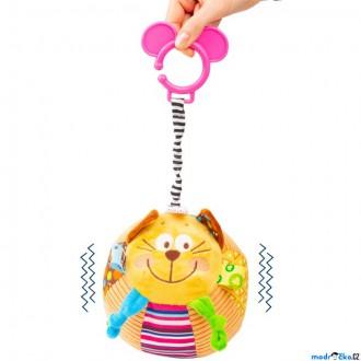 Pro nejmenší - Hračka závěsná - Natahovací vrnící balónek kočka (Legler)