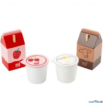 Dřevěné hračky - Dekorace prodejny - Sada mléčných výrobků (Legler)