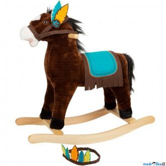 Dřevěné hračky - Houpadlo - Houpací kůň, Indián se zvukem (Legler)