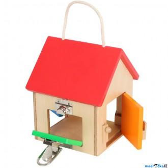 Dřevěné hračky - Motorická hračka - Domeček menší se zámky (Legler)