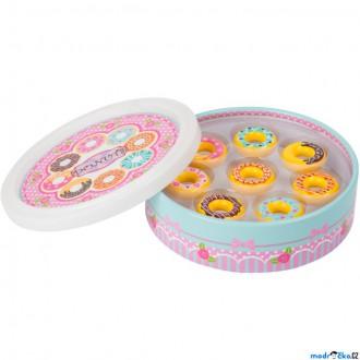 Dřevěné hračky - Dekorace prodejny - Dřevěné donutky v dóze (Legler)