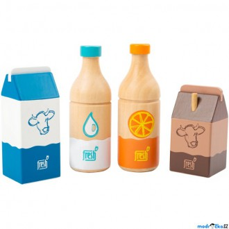 Dřevěné hračky - Dekorace prodejny - Sada čerstvých nápojů dřevěné (Legler)