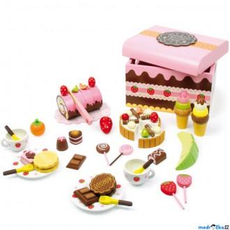 Dřevěné hračky - Dekorace prodejny - Velký box dřevěných sladkostí (Legler)