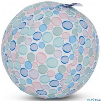 Pro nejmenší - BubaBloon - Látkový nafukovací míč, Barevné světlé puntíky
