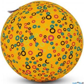 Pro nejmenší - BubaBloon - Látkový nafukovací míč, Žlutý