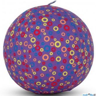Pro nejmenší - BubaBloon - Látkový nafukovací míč, Fialový