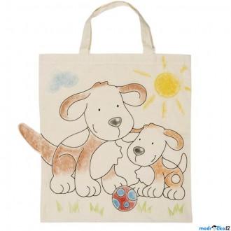 Ostatní hračky - Malování na textil - Taška bavlněná, Pejsci (Goki)