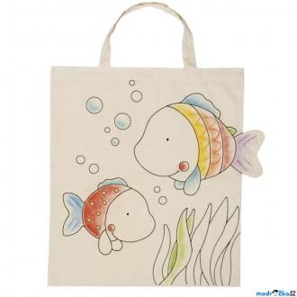 Ostatní hračky - Malování na textil - Taška bavlněná, Rybky (Goki)