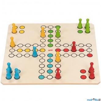 Dřevěné hračky - Společenská hra - XXL, Člověče nezlob se, 50x50cm (Goki)