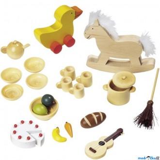 Dřevěné hračky - Nábytek pro panenky - Doplňky mix (Goki)