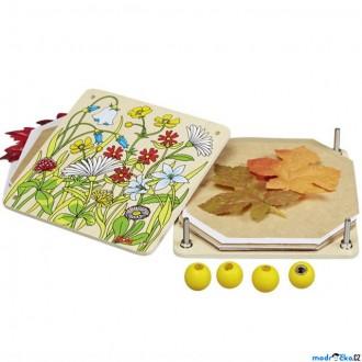 Dřevěné hračky - Herbář - Lis na květiny a listy, Jarní louka (Goki)