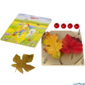 Dřevěné hračky - Herbář - Lis na květiny a listy, Peggy Diggledey (Goki)
