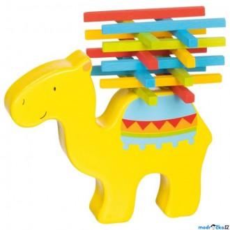 Dřevěné hračky - Motorická hra - Velbloudí náklad barevný (Goki)