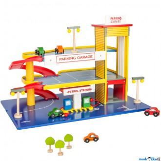 Dřevěné hračky - Garáž dřevěná - Vícepodlažní parkoviště (Legler)