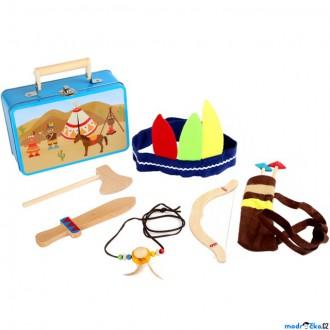 Dřevěné hračky - Indián - Set v kufříku, Indiánská sada (Legler)