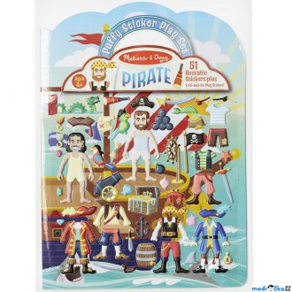 Dřevěné hračky - Samolepky - Deluxe sešit, Piráti, 51ks (M&D)