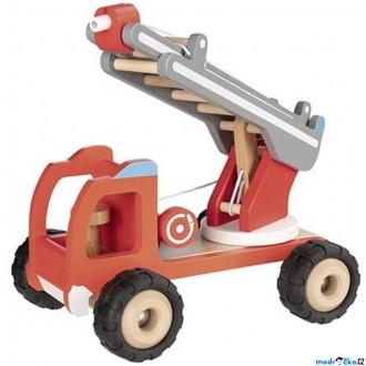 Dřevěné hračky - Auto - Hasiči se žebříkem dřevěné (Goki)