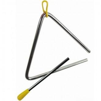 Dřevěné hračky - Hudba - Triangl, kovový 15cm (Bino)
