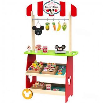 Dřevěné hračky - Prodejna - Dřevěný obchod s příslušenstvím Mickey (Disney Derrson)